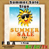 PBA - Summer Sale Sign Box
