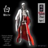 *juban 襦袢 (Men's KIMONO) type C White / Texture Change