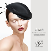 Snowpaws - Shantung Fascinator - Black