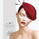 Snowpaws - Shantung Fascinator - Red