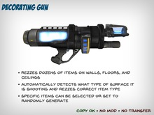 Decorating Gun - Create Random Items for Walls, Ceilings and Floors