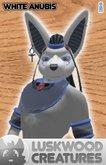 Luskwood Mythical White Anubis Avatar - Male