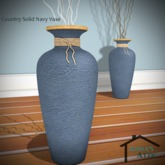 Country Solid Navy Vases