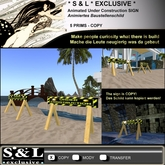 * S & L * EXCLUSIVE * Animated Under Construction SIGN - Texture animated sign