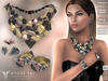 **RE** Nyobe Set - Necklace - Bracelets - Earrings & Ring *MESH* (**LUX** Collection)
