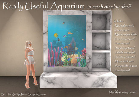 Really useful aquarium with mesh display shelf (boxed)