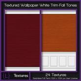 {L} Textured Wallpaper-White Trim-Fall Tones