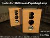 [satus Inc] Halloween Paperbag Lamp
