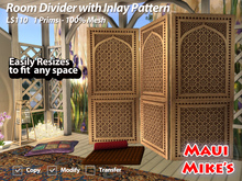 Room Divider with Inlay Pattern