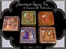 """""""CdT""""Assortment  Square tin 4 seasons & Petits fours"""