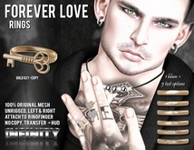 !NFINITY Forever Love Ring - Key Gold (copy)