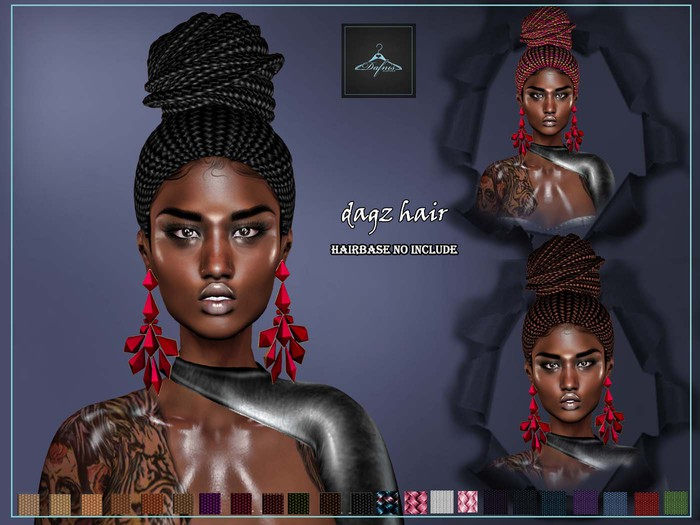 *dafnis fat pack variety hair  Dagz braids Demo