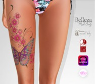 TSB ::: Tattoo butterfly with petals 2