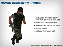 Colonial Marine Outfit - Fitted Mesh