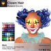 A&A Clown Hair Mesh Rainbow Colors Pack. Clown hair