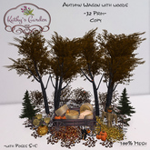 Kathy`s Garden Autumn Wagon with woods