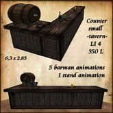 Tavern Counter, rustic wooden,with Animation.