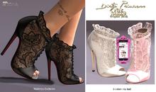 *Dirty Princess* Lace Couture Princess Heels w/Hud 8 Colors