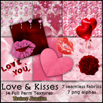Second Life Marketplace Tj Love Kisses Texture Set For Romance Valentine Or Other