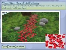 *Ya's* Red Heart Petal Pathway / Copy+Mod (BOX)