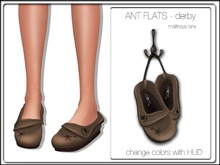 MIEL ANT FLATS - derby (FITTED MESH)