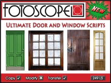 The Ultimate Door and Window Script Collection - hinged, sliding, sash, gates, chests, linked, unlinked