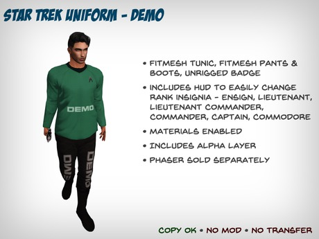 Star Trek Uniform (Kelvinverse) - DEMO