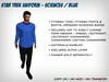 Star Trek Uniform (Kelvinverse) - Sciences / Blue