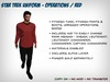 Star Trek Uniform (Kelvinverse) - Operations / Red - Fitmesh
