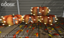 GOOSE - FALL Letter Pumpkins
