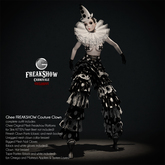 Ghee FREAKSHOW ~ COUTURE CLOWN (complete outfit)