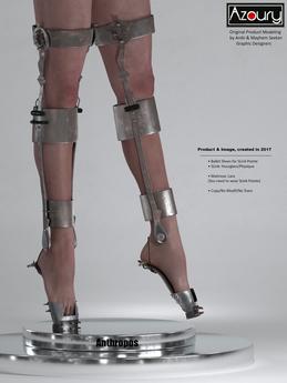 AZOURY - Anthropos  Ballet Shoes [Grey Metal]
