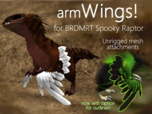 Feather wing-arms - for BRDMRT Spooky Raptor