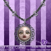 {Violet Voltaire} Doll Face Cameo Necklace: Goth