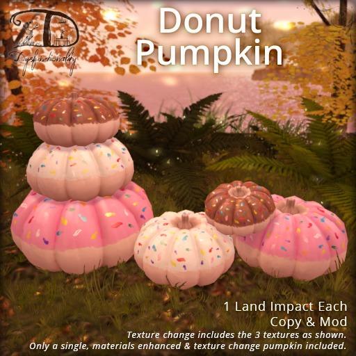 [DDD] Donut Pumpkin - Tex. Change, Materials Enhanced!