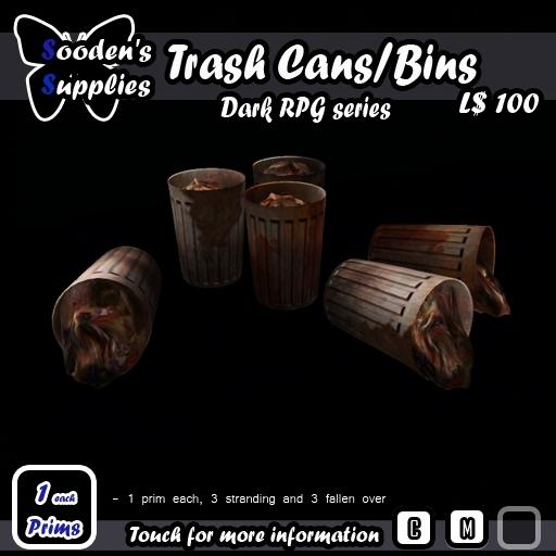 Trash cans/ bins (1 prim)