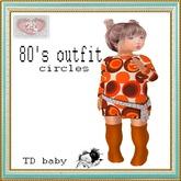 {D:D} 80's  circles orange