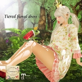 ***Ambrosia***Tiered floral dress[pink] ~ Maitreya_Fitted*
