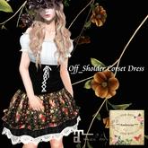 ***Ambrosia***Off_Sholder Corset Dress[black] ~Maitreya_Fitted*