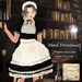 Maid dress black ad