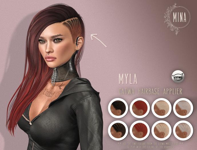 MINA Hairbase Applier HUD - Myla - CATWA + BOM