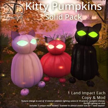 [DDD] Kitty Pumpkins - Solids - 8+10 Tex. Change!