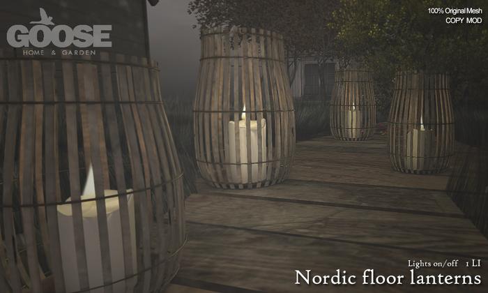 GOOSE - Nordic floor lantern