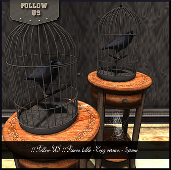 Limited price Halloween !! Follow US !! Raven table Copy version