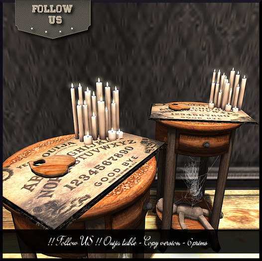Limited price Halloween !! Follow US !! Halloween Ouija table / Console COPY vers. box