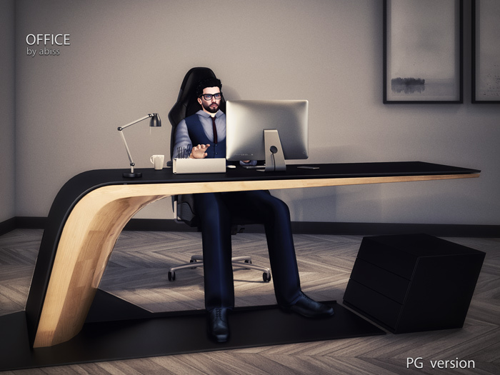 [Original] the Office by Abiss - PG version - bussines chair and desk