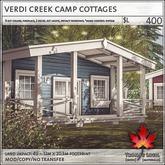 Trompe Loeil - Verdi Creek Camp Cottages [mesh]