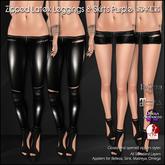 [ SAKIDE ] Zipped Latex Leggings & Skirts Black