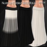 [ SAKIDE ] Nuance Folded Skirts Black