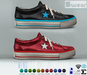 L&B - Mens - Tennis Shoes - Low Top - Leather Sneakers